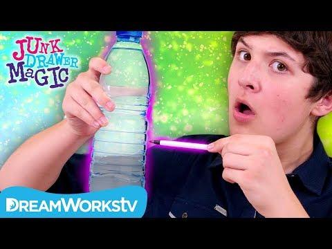 Pen Through Water Bottle Trick | JUNK DRAWER MAGIC