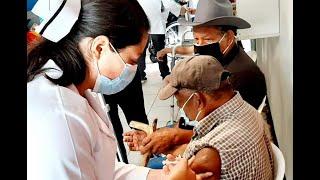 Continúa aplicación de segunda dosis de covishield contra el covid-19 en departamentos del país