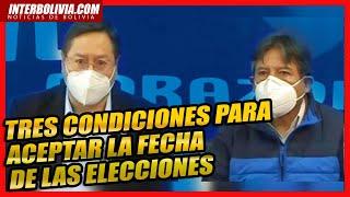 ???? Binominio del MAS exige fecha definitiva para elecciones y acuerdo con aval internacional ????