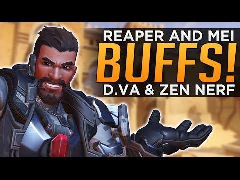Overwatch: Reaper & Mei BUFFED! D.Va & Zen NERF! - Retribution Impressions