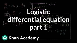 Solving the logistic differential equation part 1