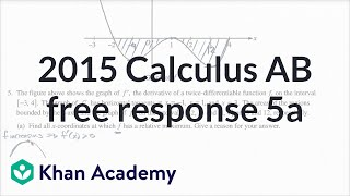 2015 AP Calculus AB 5 a