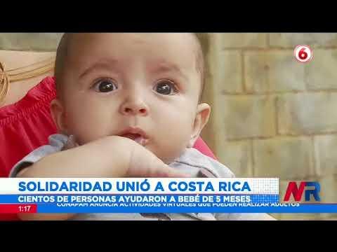 Costarricenses solidarizaron con bebé de 5 meses