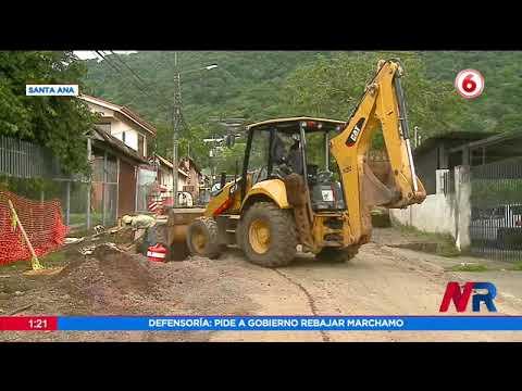 Retoman trabajos de mejora y asfaltado en calle