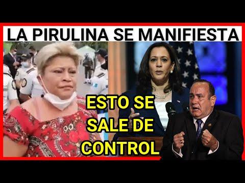URGENTE GUATEMALA, LA PIRULINA SE MANIFIESTA ANTE LA VISITA DE KAMALA HARRIS