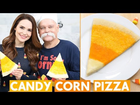 CANDY CORN THEMED PIZZA w/ my Dad!