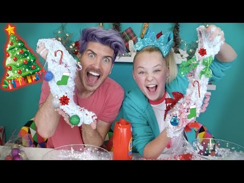 connectYoutube - HOLIDAY SLIME CHALLENGE!! With JOEY GRACEFFA! **EPIC HOLIDAY SLIME**