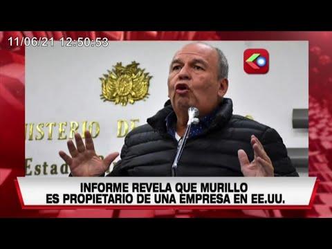 EE.UU revela que Arturo Murillo tiene una empresa en Florida, habría recibido dinero del soborno en