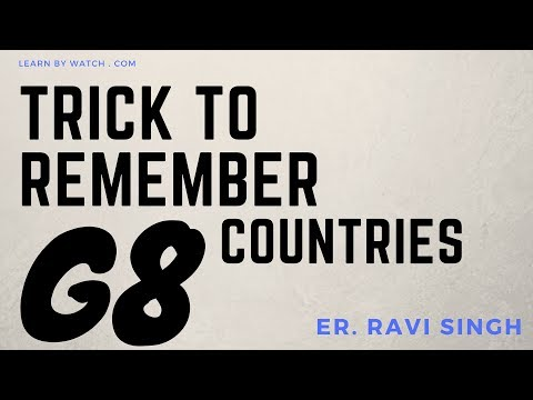 Best Trick to Remember names of G8 countries