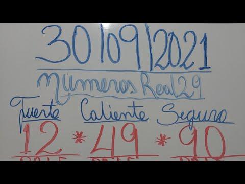 NUMEROS PARA HOY 30/09/2021 DE SEPTIEMBRE PARA TODAS LAS LOTERIAS