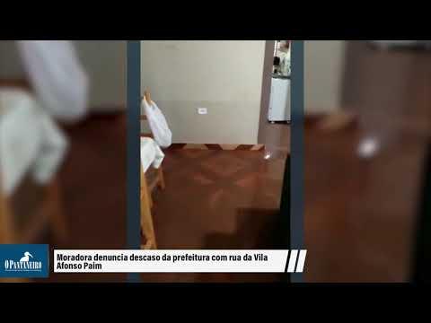 Moradora denuncia descaso da prefeitura com rua da Vila Afonso Paim