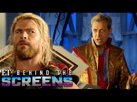'Thor: Ragnarok' Extended Scene: Jeff Goldblum's Grandmaster and Thor Meet | Behind The Screens
