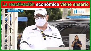 El presidente Alejandro Giammattei en Jalapa indica sobre la reactivación  económica viene enserio