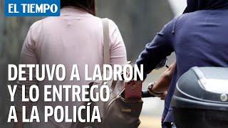 Ciudadano detiene al ladrón y lo entrega a la Policía