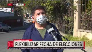 Evo Morales habla de flexibilización fecha para las elecciones por la salud