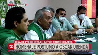 Hija de la presidenta resalta el valor de Óscar Urenda y su servicio por los bolivianos