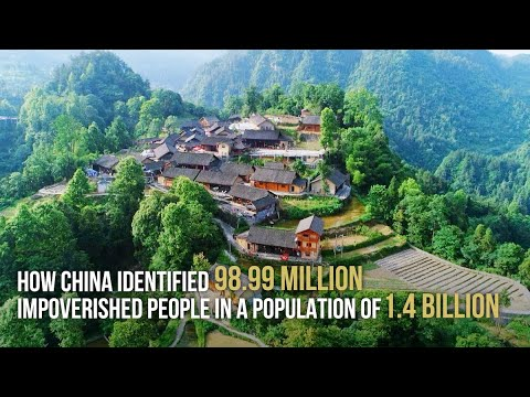 How China identified 98.99 million impoverished people in a population of 1.4 billion