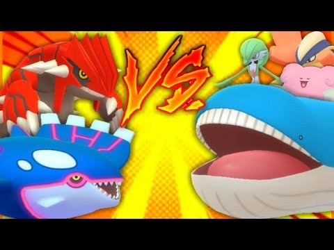 connectYoutube - KYOGRE VS 100% IV MAX CP WAILORD IN POKEMON GO   GROUDON + KYOGRE TEAM UP