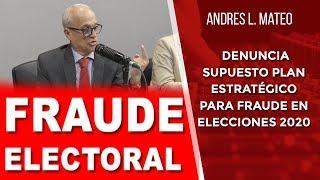 Andrés L. Mateo denuncia supuesto plan estratégico para fraude en elecciones 2020