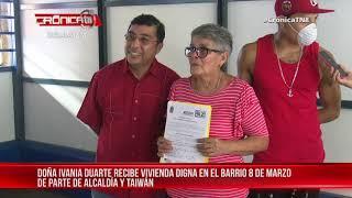 Vivienda digna cambia la situación precaria de familia del barrio 8 de Marzo – Nicaragua