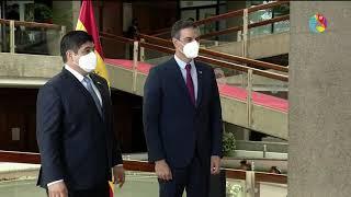 Llegada del Presidente de España a Costa Rica