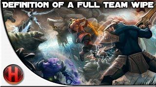 Dota 2 Fails - Definition of a Full Team Wipe