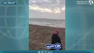 غرقت سيارته وسط البحر !