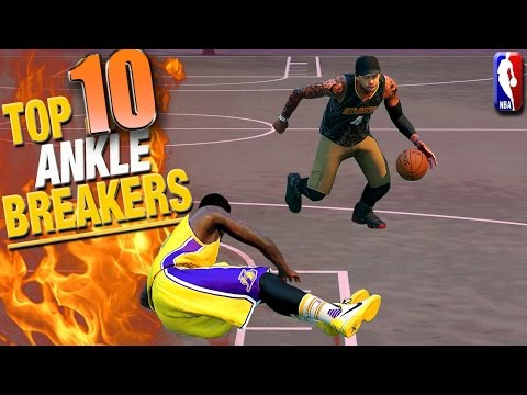 nba 2k16 top 10 ankle breakers trick shots park plays of the