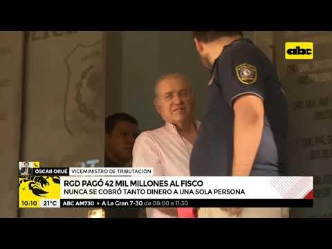 Ramón González Daher pagó los G. 42.000 millones que debía al fisco