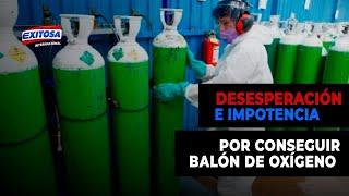 Desesperación e impotencia por conseguir un balón de oxígeno a un precio accesible