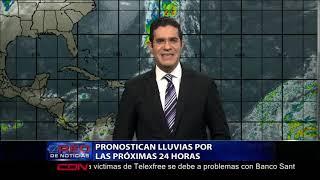 Pronostican lluvias por las próximas 24 horas