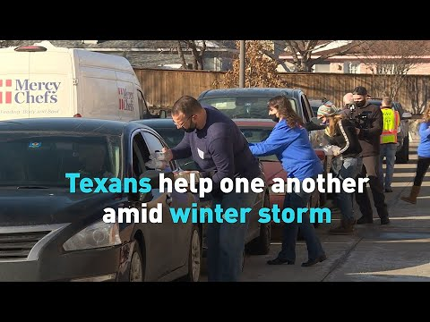 Texans help one another amid winter storm