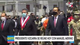 Presidente Martín Vizcarra se reúne esta tarde con el titular del Congreso