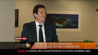Entrevista al director de Operaciones de Aeropuertos Dominicanos Siglo XXI, Eugenio Pérez
