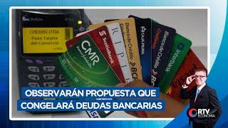 Observarán propuesta que congelará deudas bancarias | RTV Economía
