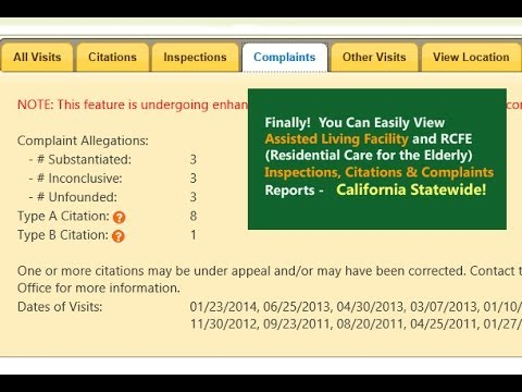 How To learn California Assisted Living Inspections & Complaints