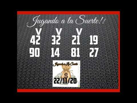 NÚMEROS PARA HOY DÍA 22/11/20 DE NOVIEMBRE PARA TODAS LAS LOTERÍAS !!