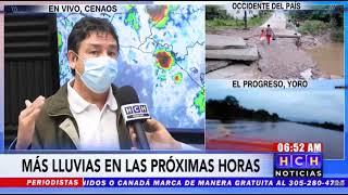 ¡Atentos! Lluvias continuarán hoy en la mayor parte de Honduras