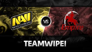 Teamwipe by Na`Vi vs Team Empire @ Excellent Moscow Cup 2