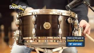 Gretsch 6 5x14 USA Ebony Ribbon Mahogany Snare Drum Quick n' Dirty
