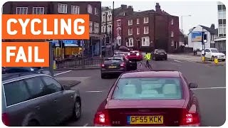 Cyclist Gets Flipped By Car | Red Means Don't Go