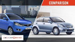 Tata Zest Vs 2015 Maruti Suzuki Swift Dzire| CarDekho.com