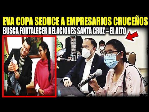 """Eva Copa seduce a Empresarios Cruceños """"Busca fortalecer relaciones Santa Cruz – El Alto"""""""