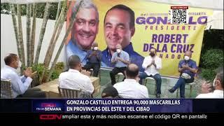 Gonzalo Castillo entrega 90,000 mascarillas en provincias del Este y Cibao