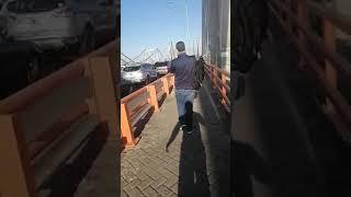 Se presume que bloqueo de puente Juan Bosch es por cuarentena