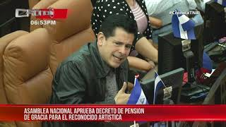 Asamblea de Nicaragua aprueba pensión de gracia al artista Ofilio Picón