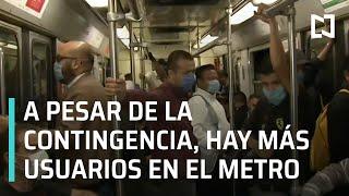 Aumentan usuarios del metro a pesar de la contingencia por coronavirus - Las Noticias