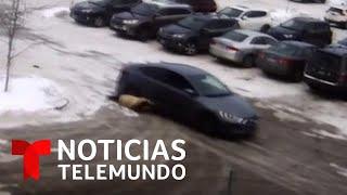 Ladrones arrastran a una mujer después de robarle la cartera   Noticias Telemundo