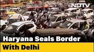 Massive Traffic Jam At Delhi-Gurugram Chekpoints After Border Sealed - NDTV