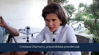 Cristiana Chamorro habla sobre la inscripción de precandidaturas presidenciales
